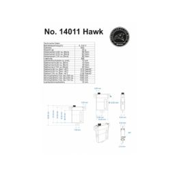 Hi-Volt servo Hawk, 8,5mm, 6,6 kg - 10