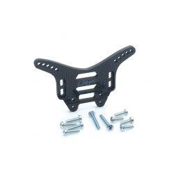 Zadní UHLÍKOVÉ parohy/držáky tlumičů 4mm – S10 Twister BX - 1