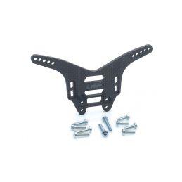 Zadní UHLÍKOVÉ parohy/držáky tlumičů 4mm – S10 Twister TX/SC - 1