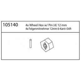 12mm unašeče kol (4ks)