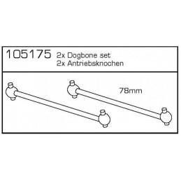 Hnací hřídel 78mm B/T (2ks)