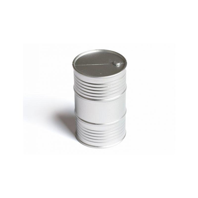 Olejový barel v měřítku 1/10 (stříbrný) - 1